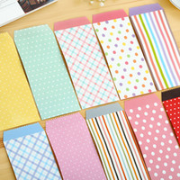 Wholesale Korean Cute Cartoon Mini Colorful Kawaii Paper Gift window Envelopes Wedding Invitations