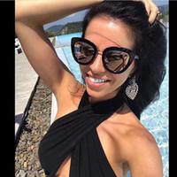 achat en gros de designer italien lunettes de soleil marques-2017 nouvelle mode lunettes de soleil femme marque CH5368 CAT EYES lunettes de soleil vintage style abe logo italien designer style été bling cadre