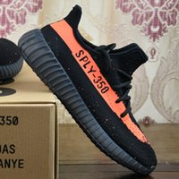 Cheap 2017 Adidas Originals Yeezy 350 Boost V2 Running Shoes Best Men Women Wholesale SPLY-350 Yeezys Black White 2016 New Sports Shoes With Box