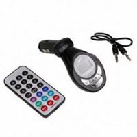 Wholesale 10set Car FM Transmitter Car Kit MP3 Player Wireless FM Transmitter Modulator USB SD CD MMC Remote XRC