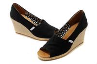Compra Acuñan los talones-Plataformas de mujer Tacones de tacón alto Zapatillas Moda Zapatos de tacón abierto Mujeres Cuñas Sandalias Señoras Casual Zapatos de verano