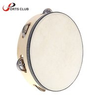Wholesale quot Hand Held Tambourine Drum Bell Birch Metal Jingles Percussion Educational Toy for KTV Party Kids Games