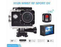 Wholesale RF Remote Control K FPS Sport DV H12R M Waterproof Action Camera WIFI Control Display Sport Camera color fine retail packag