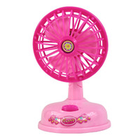 Wholesale Mini Simulation electric fan toy for kid classic electric furniture toy the best gift for children Pink