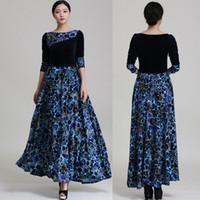 Мода уличный стиль одежды длинным евро 3 цвета элегантных женщин бархатные одежды старинные одежды осень филенчатые леопарда зимний вечер длинное платье