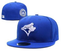 Wholesale 2017 New style Toronto Blue Jays Baseball Cap Front Logo Alternate Fitted Hats wicks away sweat Adult Sport men women Caps