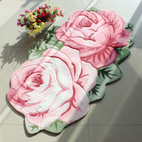 Wholesale 2017 Hot Retail Living Room Floor Hallway Indoor Outdoor CM Rose Carpet Doormats Pad Matting Protect Rugs Floor Cover