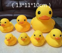 Wholesale High Quality Baby Bath Water Duck Toy Sounds Mini Yellow Ducks Bath Small Duck Toy Children Swiming Beach Gifts cm C2037