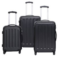 abs trolley set - GLOBALWAY Luggage Travel Set Bag ABS PC Trolley Suitcase Black