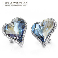 Wholesale Neoglory Austrian Crystal Auden Rhinestone Heart Love Clip Earrings For Women Gifts Party Classic New