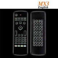 Wholesale MX3 X8 Backlit Mini Keyboard ghz Fly Air Mouse Remote Controller With Motion Sensor For Smart TV Android TV Box T95X X96