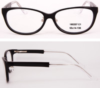 Wholesale New Arrival fashion Women and Men Eyeglasses frames Designer eyeglass frame full rim Acetate Optical frame with Clear Lens