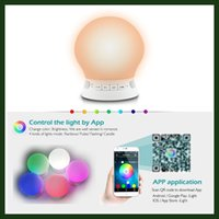 baby contemporary - New Arrival Multicolor LED Baby Night Light Portable Silicone Ball Nursery Night Lamp Bluetooth Tap Color Changing Romantic Mood Lamp