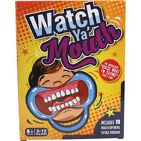 Wholesale Watch Ya Mouth Game Adult Phrase Card Game CardS with mouthopeners Funny Family Party Christmas Board Game