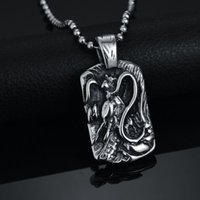 alien jewelry - Hot Sale New Casting Jewelry L Stainless Steel Tag Necklace Alien Monster Engaraved Pendant Colar For Men Gift