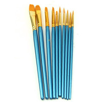 Multi Function Pens artists point - set Artists Paint Brush Set Acrylic Watercolor Round Pointed Tip Nylon Hair Blue