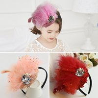 baby bans - headbands for babies girls feather headband accessories elastic lace headbands simple Children s hair ornaments Girl with feather hair ban