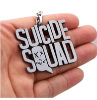 baseball key ring - 5 cm Suicide Squad Baseball Keychain Car Key Chain Jewelry DC Comics New Key Rings For Gift Cosplay Harley Quinn