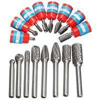 Wholesale New set quot mm Tungsten Carbide Burr Bits Rotary Files CNC Engraving Tool Set For Rotary Tools