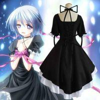 Wholesale Japanese Anime Rewrite Cosplay Custume Girl s Game Uniform Black Gothic Lolita Dress Skirt for women