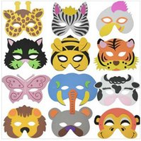 Wholesale EVA Foam Animal Masks Toy Party Bag Fillers Children Kids Size Colors Assorted