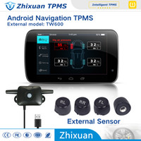 android navigation system - china tpms factory car tyre pressure monitoring system with external sensors USB connect android car DVD navigation test tire states