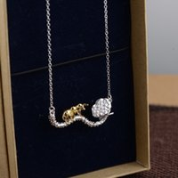 bee mother - Thai silver S925 Sterling Silver Chain with chain lotus bee set new Pendant Necklace to send his girlfriend