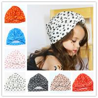 baby bunny hats - Fashion Polka dots Baby Hat Bunny Ear Caps Europe StyleHats Colors India Hats Kids Winter Beanie