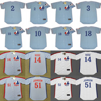 bailey jersey - 2017 Men s Montreal Expos JOHN BATEMAN BOB BAILEY RUSTY STAUB STEVE RENKO PETE ROSE RANDY JOHNSON Throwback Baseball Jerseys Stitched