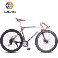 Wholesale KOLUSSI Retro Speed Bicycle Road Racing Bike Steel CC Bicicleta Carretera Bisiklet Velo Bici Da Corsa Fahrrad Bicicletta