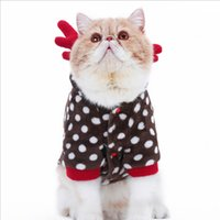 Wholesale Soft Cat Clothes Dot Milu Deer Change To Pack Folded Ears Garfield Pet Clothes Spring Autumn Comfortable