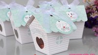 Wholesale mini Love Nest Bird house baby shower candy box wedding candy boxes wedding favor gift box chocolate box