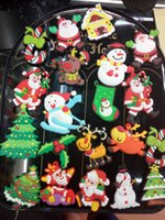 Wholesale Fridge magnets Christmas Santa Claus Christmas snowman refrigerator Christmas decorations The latest new Christmas