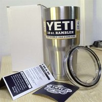 Wholesale YETI Drop shipping oz Cup Cooler YETI Rambler Tumbler For Travel Vehicle Beer YETI Mug Tumblerful Bilayer