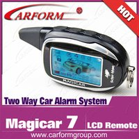 alarms pagers - New arrival Magicar lcd pager for Scher Khan Magicar two way car alarm system first version Only remote keychain Magicar