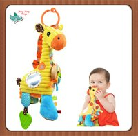 baby crib patterns - Sozzy Baby Playtime Pal Lovely Cartoon Giraffe Pattern Soft Toys Musical Rattle Ring Bell Stroller Hanging Cot Bed Crib Mobile Educational