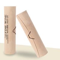 Wholesale Eco friendly Birch Bark Round Wine Box for Single Bottle