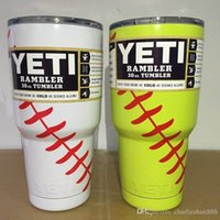 Wholesale 2 colors baseball OZ YETI Cups cooler with logo Beer best quality Mugs Tumblerful rambler car for party night club Rambler Tumbler