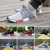 badminton vert achat en gros de-2017 New NMD Runner Primeknit XR1 Automne Olive Green All Black Fashion Sneakers Hommes Femmes Sports Jeunes NMD XR1 Running Shoes Taille 36-44