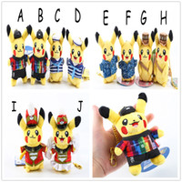 baby dressers - 10 Style cm Pikachu cross dresser Poke Pocket Monsters keychain Plush Doll Stuffed Toy For Baby Gifts