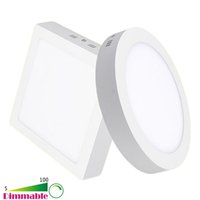 Wholesale 9W W W W Inch Dimmable Surface Mounted Round Square LED Ceiling Panel Light Downlight