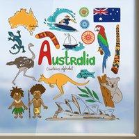 australia wallpapers - I Love Australia Illustration Fashion Wedding Decor Vinyl Waterproof Wall Sticker Bedroom Wallpaper Wall Decal Baby Rooms Decor