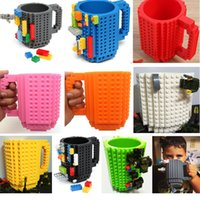 Wholesale Build on Brick Blocks Mug Cups ml DIY Assembled Puzzle Creative Decompression Dining Bar Office Coffee Cup PX C04