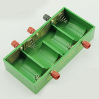 Wholesale 1 V X2 X4 D Battery boxs D Battery Holder Enclosed Box green V V Battery boxs D