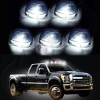 Wholesale 5pc Lamp Cover Running Lights Cab Marker Xenon White T10 LED Bulbs for Ford M00138 VPRD
