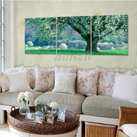Wholesale Modern Landscape Trees No frame Canvas Paintings On Canvas Wall Art Oil Painting Canvas pictureping