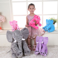 Wholesale 60 cm Elephant Pillow Long Nose Elephant Doll Soft Plush Stuff Toys Lumbar Pillow Baby Children INS Sleep Pillow F871