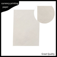 Wholesale currency printinng paper cotton linen pass pen test paper high quality with colored fiber A4 size