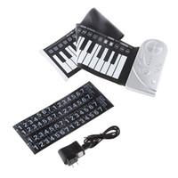 Precio de Piano del teclado suave 49-Venta al por mayor- nuevo portátil flexible 49 teclas electrónicas enrollar suave teclado de silicona piano mano música órgano regalo plástico panel de control
