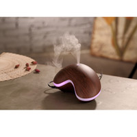Wholesale CAROLA Ultrasonic Aroma Diffuser Newest Aroma Essential ml Wood Grain Mist Humidifier Colors Lights Oil Diffuser for home Dark Wood